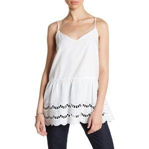 LUSH eyelet babydoll cami tank top tunic blouse